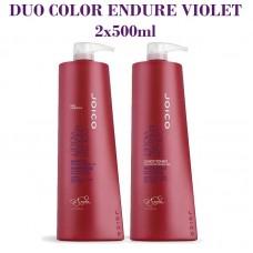 Матиращ комплект шампоан и балсам за руса коса JOICO Color Endure Violet Shampoo 2х500ml
