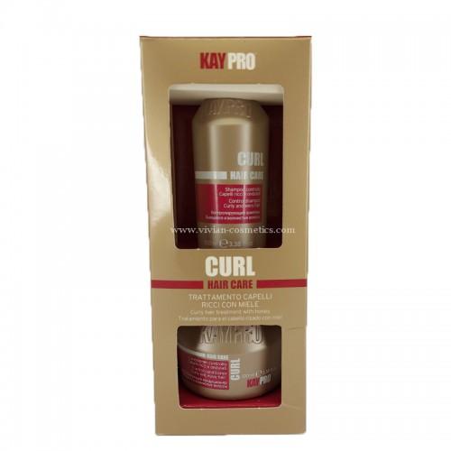 Мини комплект шампоан и маска за къдрава коса KAYPRO Curl 2х100ml