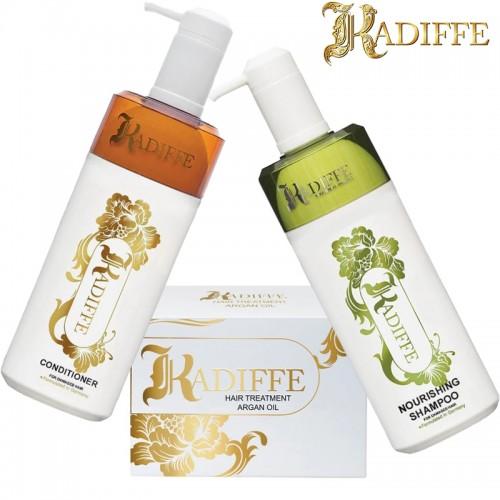 Възстановяващ комплект шампоан, балсам и терапия за увредената и изтощена коса Kadiffe