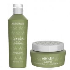 Хидратиращ комплект шампоан и маска с конопено масло Selective Professional Hemp Sublime Shampoo and Mask