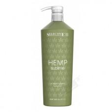 Хидратиращ шампоан за суха и изтощена коса Selective Professional  Hemp Sublime  Ultimate Luxury Shampoo 1000ml