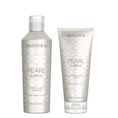 Комплект за луксозен блясък на руса коса Selective Professional Pearl Sublime Ultimate Luxury 2x250ml