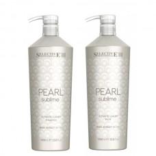 Комплект за луксозен блясък на руса коса Selective Professional Pearl Sublime Ultimate Luxury 2x1000ml