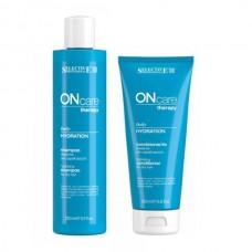 Шампоан и балсам за ежедневна хидратация на суха коса Selective Professional  ONcare Therapy Daily Hydration 2х250ml