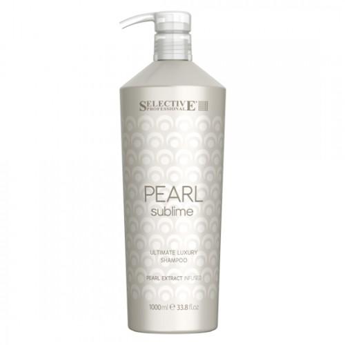 Шампоан за луксозен блясък на руса коса Selective Professional Pearl Sublime Ultimate Luxury Shampoo 1000ml