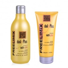 Възстановяващ комплект шампоан и маска с костен мозък и плацента Free Limix Nutri-Plus
