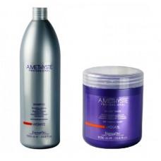Комплект маска и шампоан за суха и изтощена коса FarmaVita Amethyste Hydrate 2х1000ml