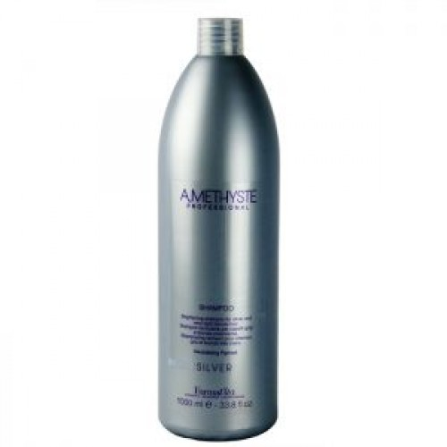 Матиращ шампоан за руса коса, който неутрализира жълтия оттенък FarmaVita AMETHYSTE Silver Shampoo 1000ml